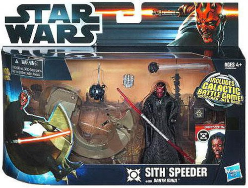 Star Wars Phantom Menace Vehicles & Action Figure Sets 2012 Sith Speeder with Darth Maul Action Figure Set