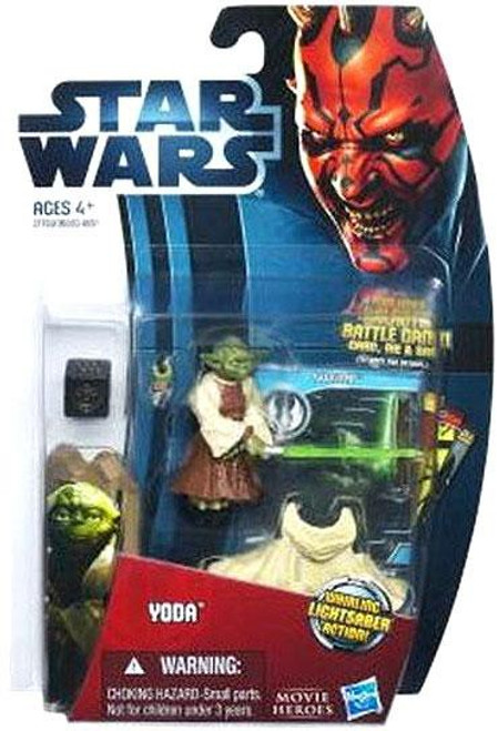 Star Wars Attack of the Clones 2012 Movie Heroes Yoda Action Figure #9
