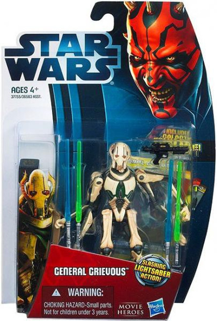 Star Wars Revenge of the Sith 2012 Movie Heroes General Grievous Action Figure #7