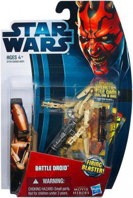 Star Wars Phantom Menace 2012 Movie Heroes Battle Droid Action Figure #4 [RANDOM Color]