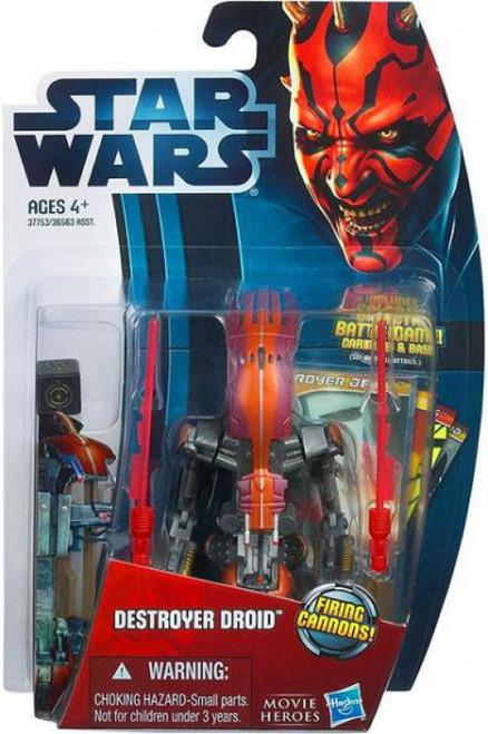 Star Wars Phantom Menace 2012 Movie Heroes Destroyer Droid Action Figure #12 [Firing Cannons]