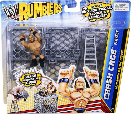 WWE Wrestling Rumblers Series 2 Crash Cage Mini Figure Playset [With Randy Orton]