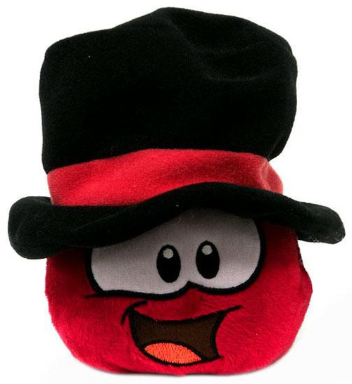 Club Penguin Red Puffle Exclusive 4-Inch Plush [Top Hat]