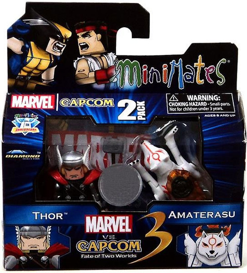 Marvel vs Capcom 3 Minimates Series 2 Amaterasu Vs. Thor Exclusive Minifigure 2-Pack
