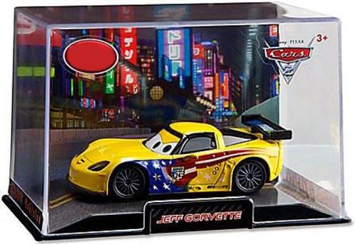 Disney / Pixar Cars Cars 2 1:43 Collectors Case Jeff Gorvette Exclusive Diecast Car