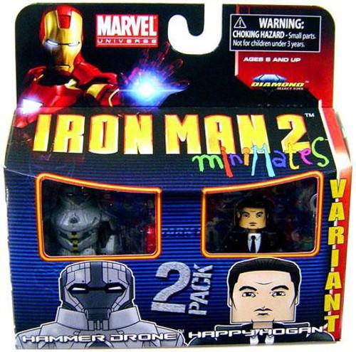 Marvel Iron Man 2 Minimates Series 35 Hammer Drone & Happy Hogan Minifigure 2-Pack [Variant]