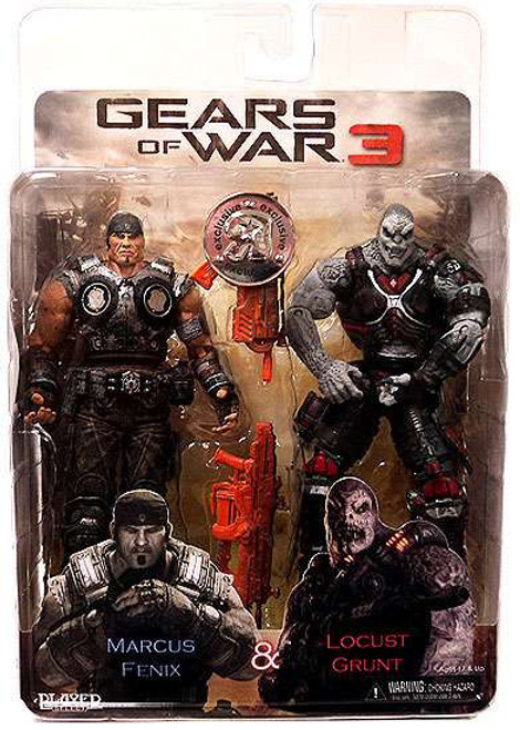 NECA Gears of War 3 Marcus Fenix & Locust Grunt Action Figure 2-Pack [Damaged Package]