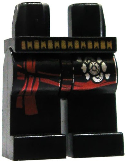 LEGO Black with Gold Belt & Red Sash Loose Legs [Loose]