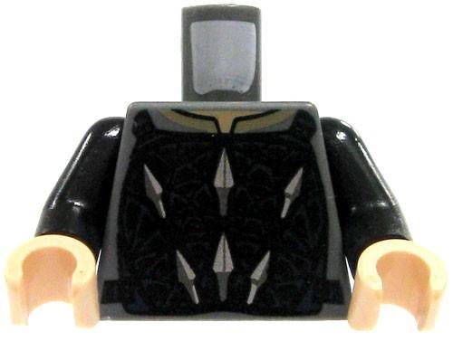 LEGO Gray with Black & Gray Armor Loose Torso [Loose]