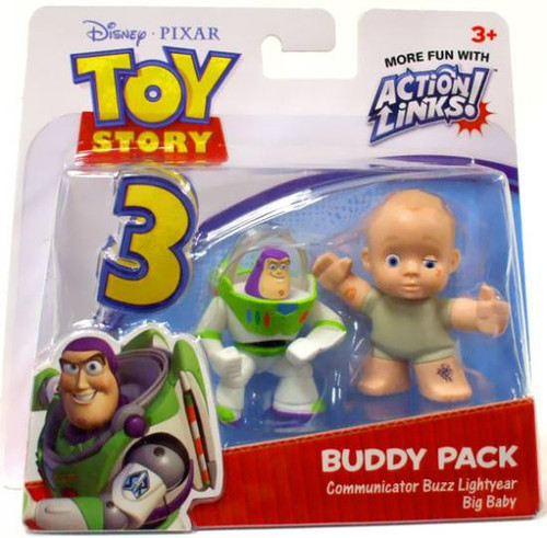 Toy Story 3 Action Links Buddy Pack Communicator Buzz Lightyear & Big Baby Mini Figure 2-Pack