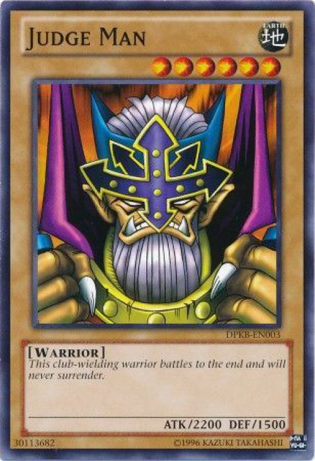 YuGiOh Duelist Pack Kaiba Common Judge Man DPKB-EN003