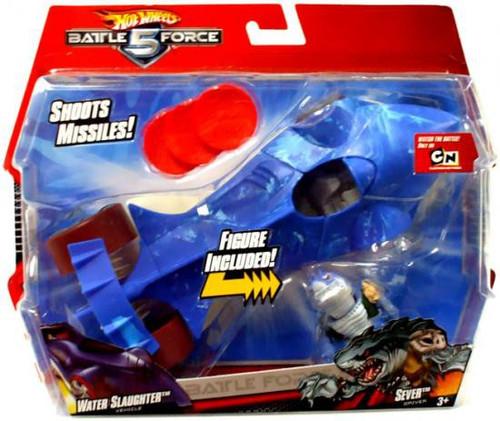 Hot Wheels Battle Force 5 Water Slaughter & Sever Vehicle & Figure
