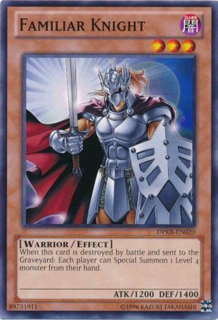 YuGiOh Duelist Pack Kaiba Common Familiar Knight DPKB-EN020