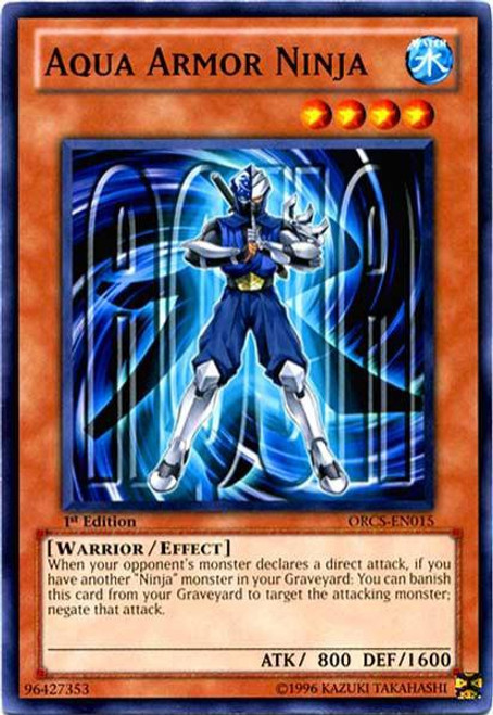 YuGiOh YuGiOh 5D's Order of Chaos Common Aqua Armor Ninja ORCS-EN015