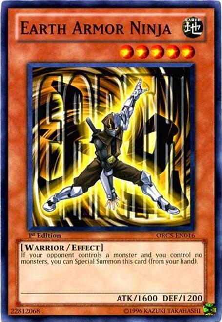 YuGiOh YuGiOh 5D's Order of Chaos Common Earth Armor Ninja ORCS-EN016