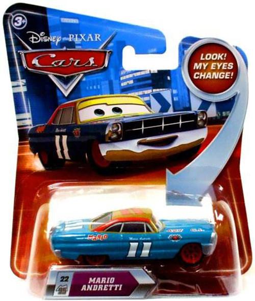 Disney / Pixar Cars Lenticular Eyes Series 2 Mario Andretti Diecast Car