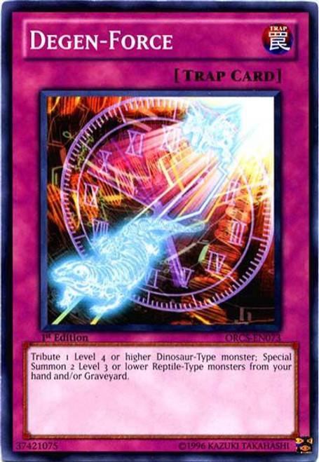 YuGiOh YuGiOh 5D's Order of Chaos Common Degen-Force ORCS-EN073