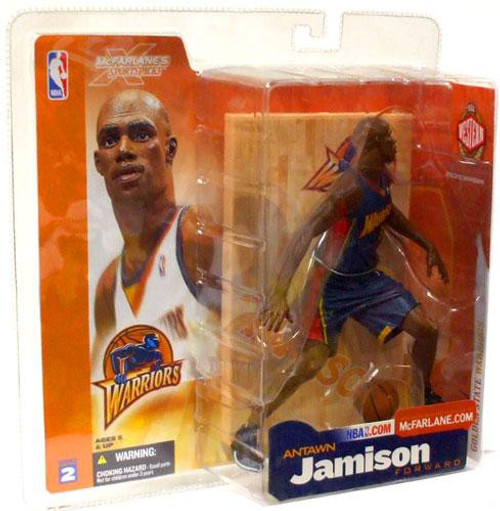 McFarlane Toys NBA Golden State Warriors Sports Picks Series 2 Antawn Jamison Action Figure [Dark Blue Jersey]