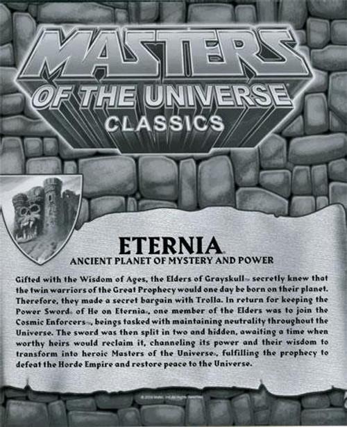 Masters of the Universe Classics Club Eternia Map of Eternia Exclusive