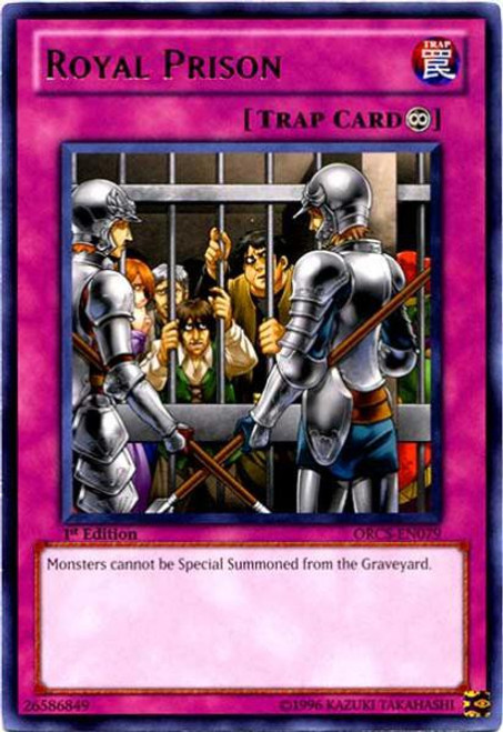 YuGiOh YuGiOh 5D's Order of Chaos Rare Royal Prison ORCS-EN079