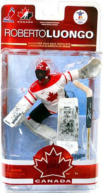 McFarlane Toys NHL Vancouver Canucks Sports Picks Team Canada Series 2 Roberto Luongo Action Figure [White Jersey]