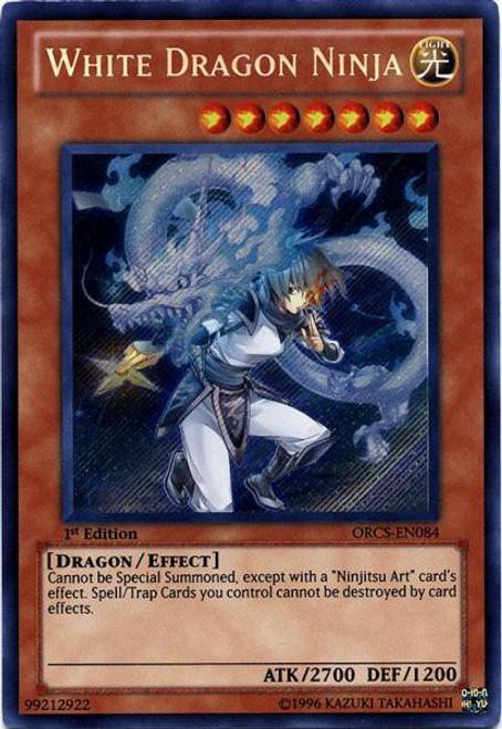 YuGiOh YuGiOh 5D's Order of Chaos Secret Rare White Dragon Ninja ORCS-EN084