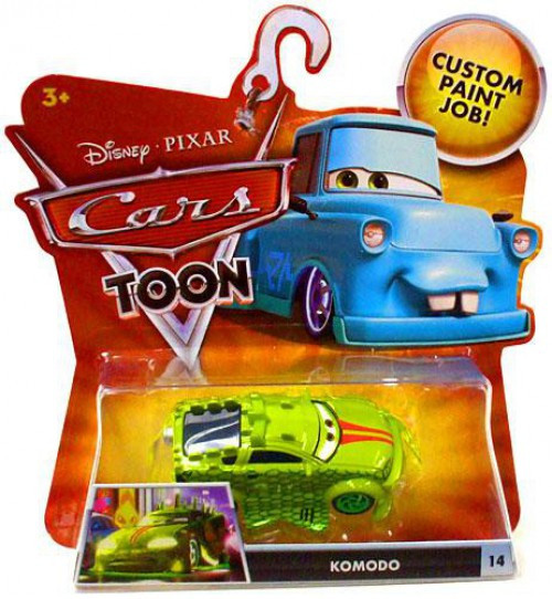 Disney / Pixar Cars Cars Toon Main Series Komodo Diecast Car #14