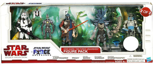 Star Wars Legacy Collection 2010 The Force Unleashed Figure Pack Exclusive Action Figure Set #2 [2 of 2]
