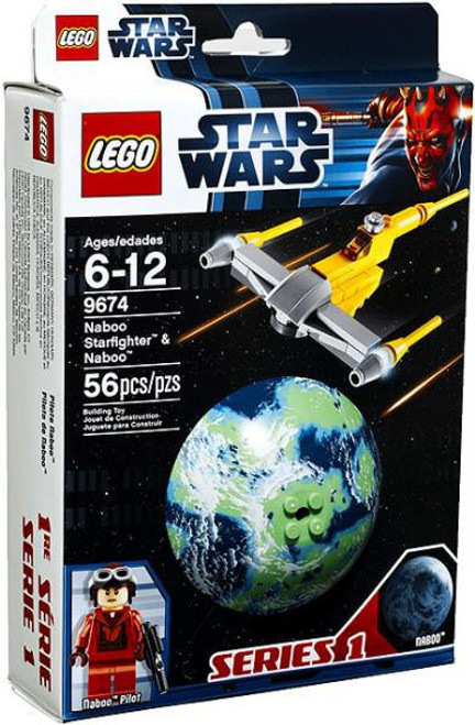 LEGO Star Wars Phantom Menace Planets Series 1 Naboo Starfighter & Naboo Set #9674