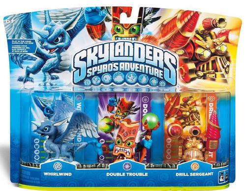 Skylanders Spyro's Adventure Whirlwind, Double Trouble & Drill Sergeant Figure 3-Pack
