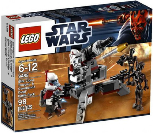 LEGO Star Wars The Clone Wars Elite Clone Trooper & Commando Droid Battle Pack Set #9488