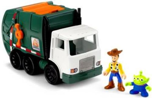 Fisher Price Disney / Pixar Imaginext Toy Story 3 Tri-County Sanitation Garbage Truck 3-Inch Figure Set