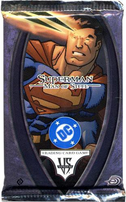 DC VS System Trading Card Game Superman Man of Steel Booster Pack [14 Cards]