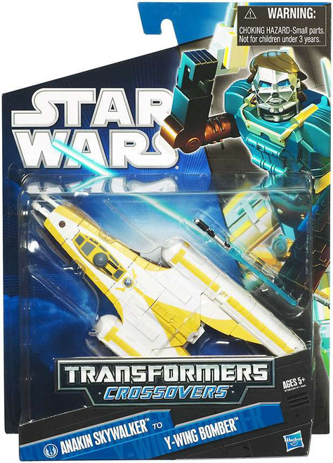 Star Wars The Clone Wars 2010 Transformers Crossovers Anakin Skywalker to Y-Wing Starfighter Action Figure