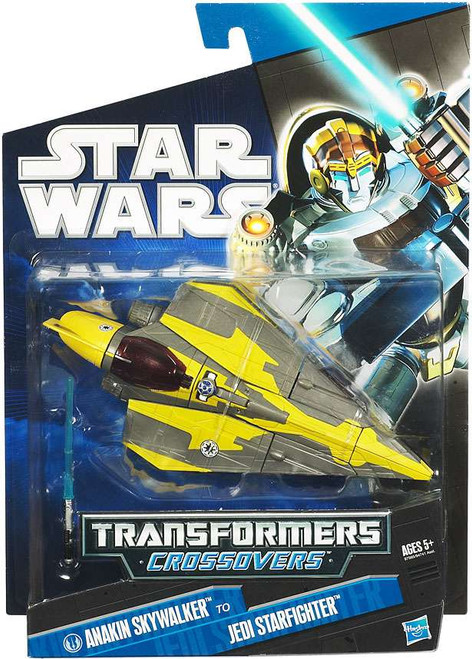 Star Wars Revenge of the Sith 2010 Transformers Crossovers Anakin Skywalker to Jedi Starfighter Action Figure