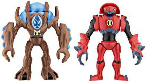 Ben 10 Alien Force Alien Creation Chamber Water Hazard & Ultimate Swampfire Mini Figure 2-Pack