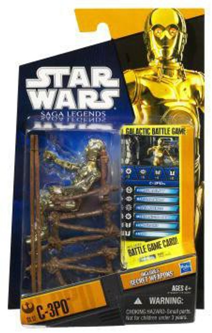 Star Wars Return of the Jedi Saga Legends 2010 C-3PO Action Figure SL17 [Ewok Throne]