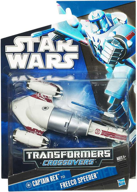 Star Wars The Clone Wars 2010 Transformers Crossovers Captain Rex to Freeco Speeder Action Figure