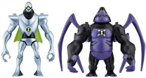 Ben 10 Alien Force Alien Creation Chamber Nanomech & Ultimate Spidermonkey Mini Figure 2-Pack