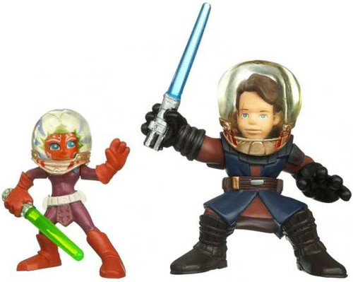 Star Wars The Clone Wars Galactic Heroes 2010 Anakin Skywalker & Ahsoka Tano Mini Figure 2-Pack [Space Helmets]