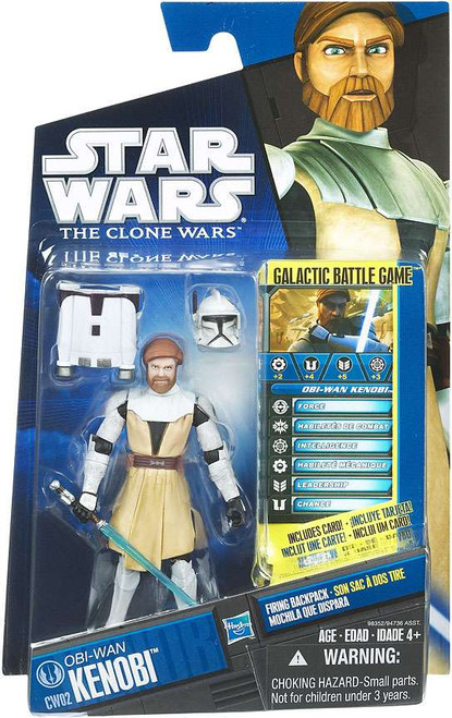Star Wars The Clone Wars 2010 Obi-Wan Kenobi Action Figure CW02