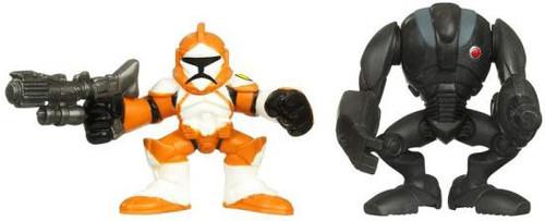 Star Wars The Clone Wars Galactic Heroes 2010 Super Battle Droid & Clone Trooper Bomb Squad Mini Figure 2-Pack