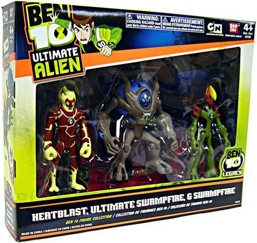 Ben 10 Ultimate Alien Heatblast, Swampfire & Ultimate Swampfire Action Figure 3-Pack