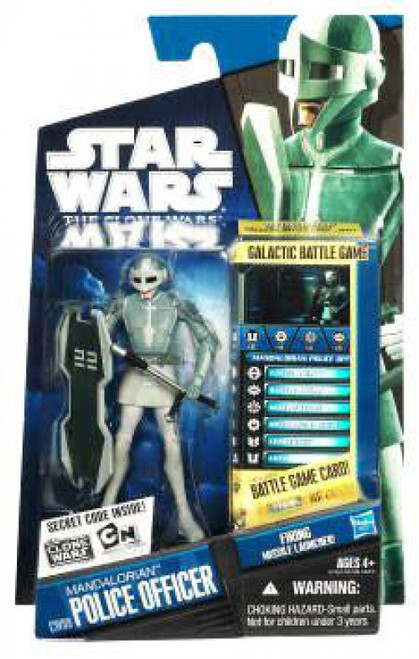 Star Wars The Clone Wars 2010 Mandalorian Police Officer Action Figure CW09