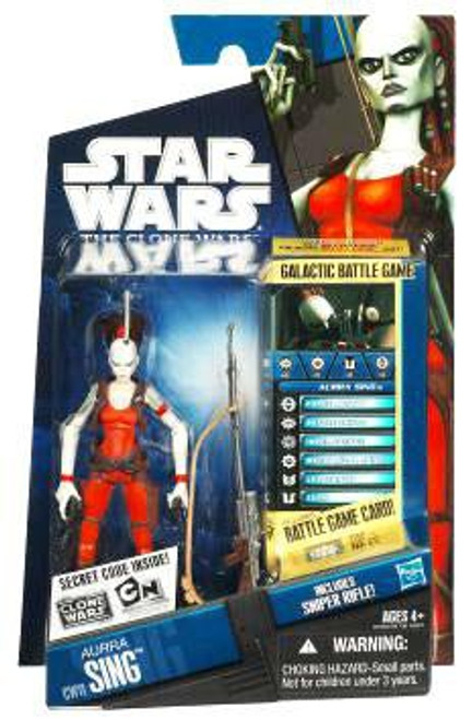 Star Wars The Clone Wars 2010 Aurra Sing Action Figure CW11