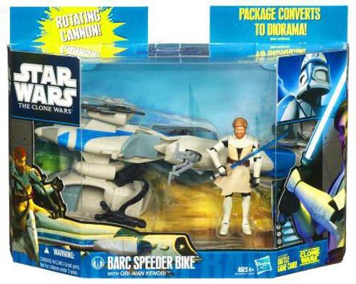 Star Wars The Clone Wars 2010 Speeder Bike with Obi Wan Action Figure & Vehicle