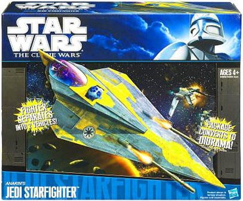Star Wars The Clone Wars 2010 Anakin's Jedi Starfighter 3.75-Inch Vehicle [Delta]