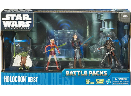 Star Wars The Clone Wars 2010 Battle Packs Holocron Heist Action Figure 4-Pack