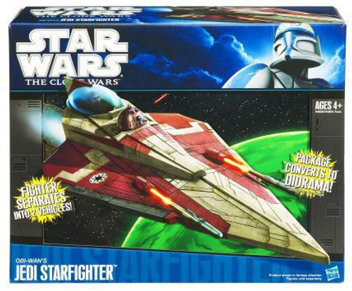 Star Wars The Clone Wars 2010 Obi-Wan's Jedi Starfighter 3.75-Inch Vehicle