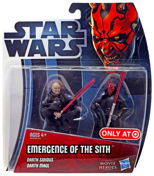 Star Wars Phantom Menace 2012 Movie Heroes Emergence of the Sith Exclusive Action Figure 2-Pack [Darth Sidious & Darth Maul]